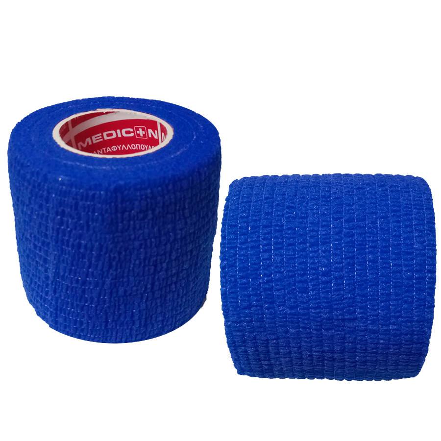 """Αυτοσυγκρατούμενος επίδεσμος Medicin 2"""" (5 cm) - Μπλε"""