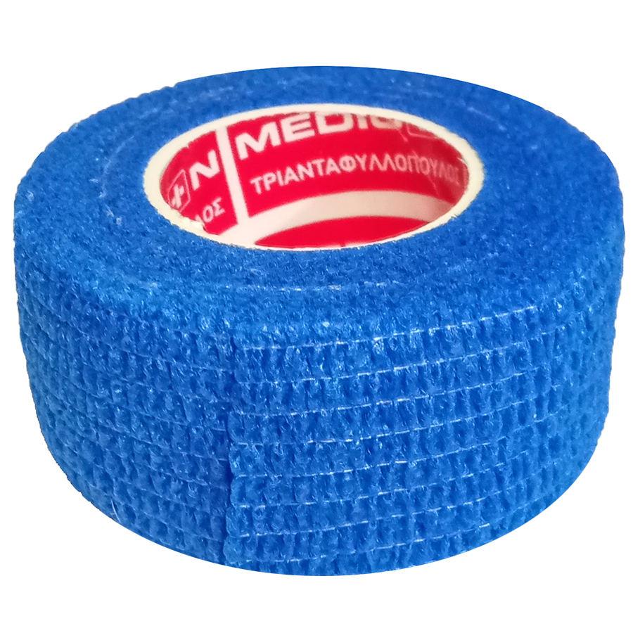"""Αυτοσυγκρατούμενος επίδεσμος Medicin 1"""" (2.5 cm) - Μπλε"""