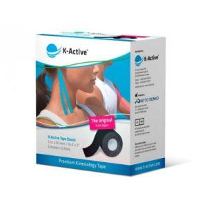K-Active Kinesiology Tape Classic 5cmX5m Black