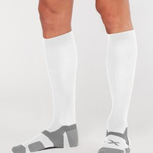Κάλτσα Συμπίεσης 2XU (Vectr Cushion Socks) White UA5156e