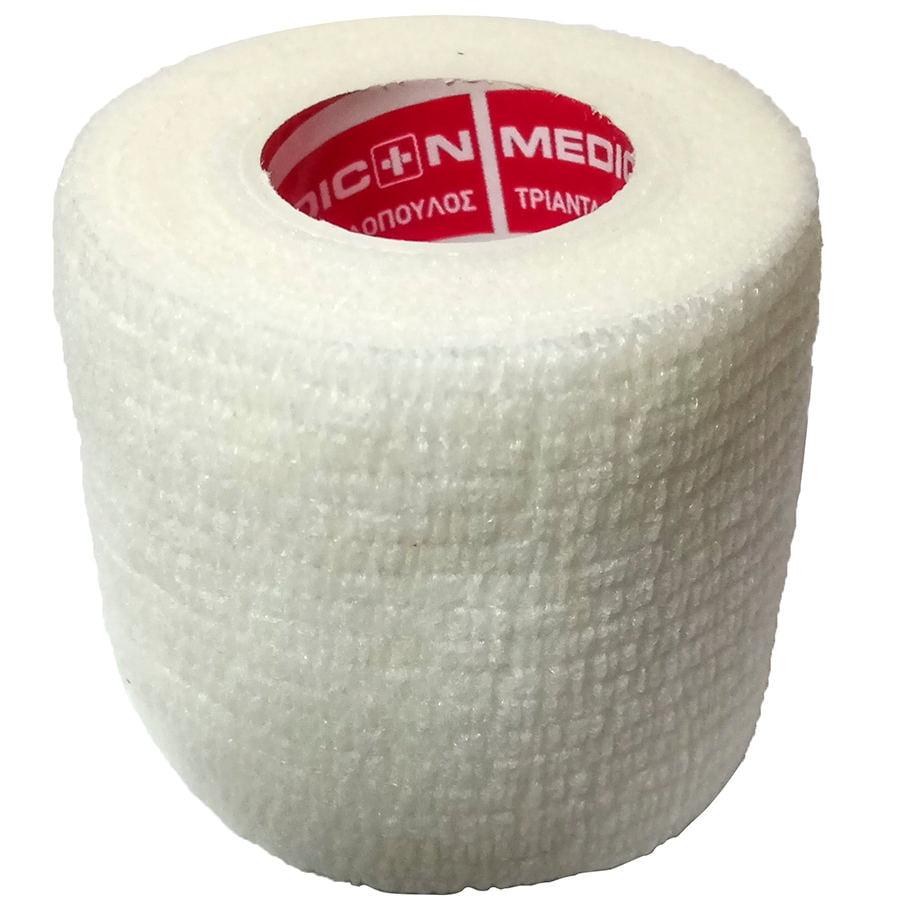 """Αυτοσυγκρατούμενος επίδεσμος Medicin 2"""" (5 cm) - Λευκός"""